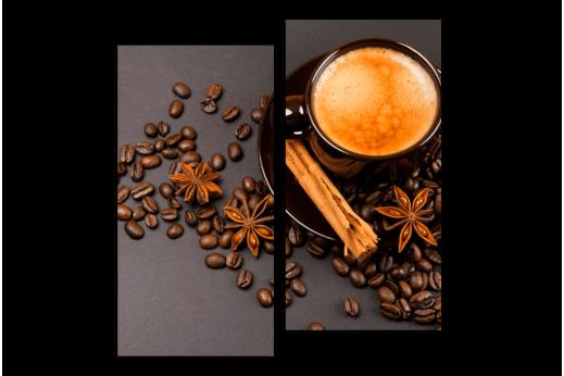 Модульная картина Кофе в интерьер