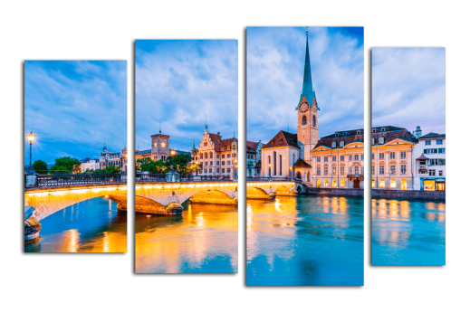 Модульная картина Цюрих