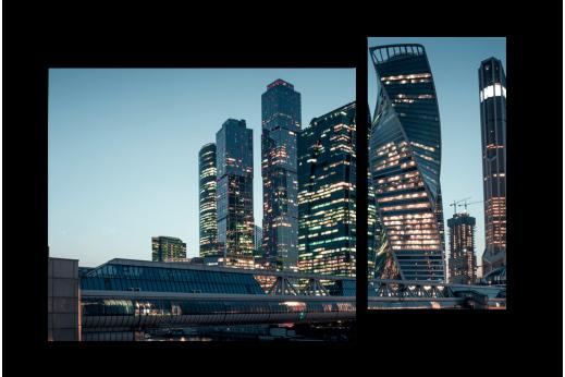 Модульная картина Свет Москва-Сити